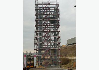 Aufzugsturm Liebherr-Werk in Ehingen