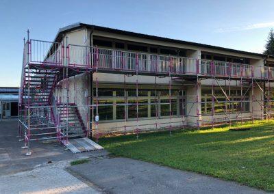 Kindersichere-Fluchttreppe, Schule Siloah in Isny